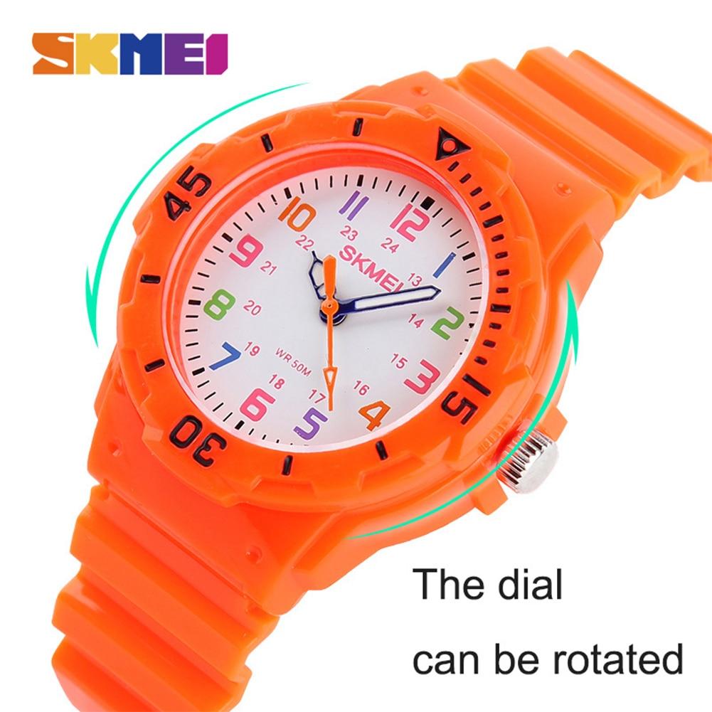 SKMEI 1043 Fashion Casual Children Gift Watches 50M Waterproof Quartz Wristwatches Kids Clock Boys Hours Girls Students Watch