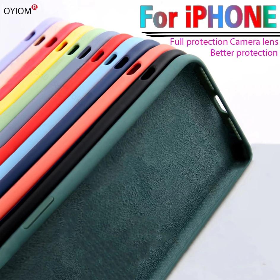 Original Liquid Silicone Luxury Case For Apple iPhone 11 12 Pro Max mini 7 8 6 6S Plus XR X XS MAX S