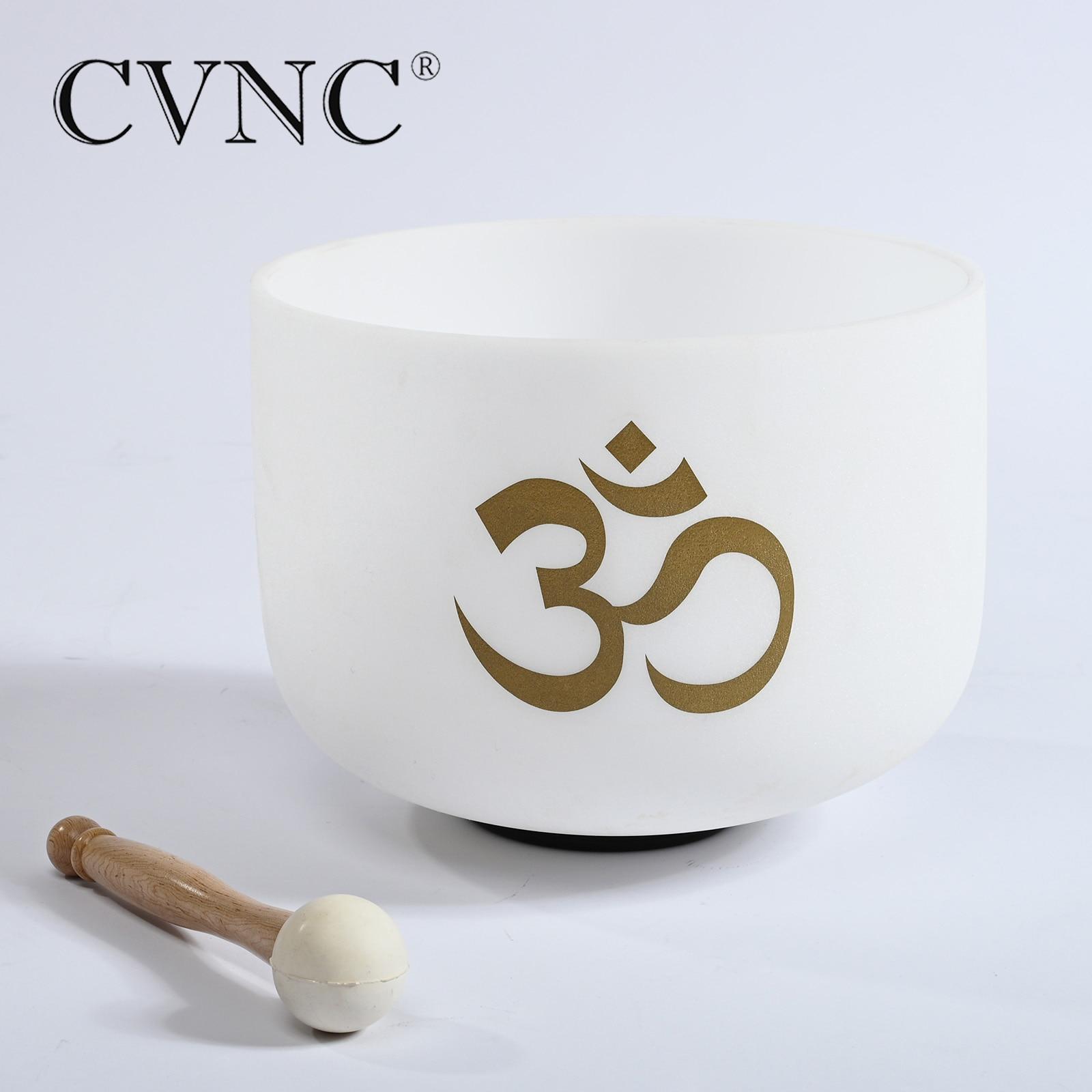 CVNC 10 pulgadas nota C # D # F # G # A # cualquier nota Chakra cristal de cuarzo cuenco de canto meditación