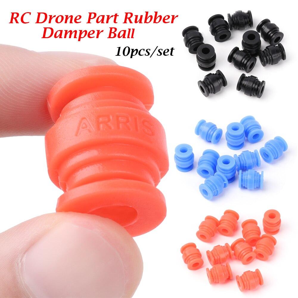 10 pçs anti vibração bolas de borracha amortecedor para f4 f7 controlador de vôo macio montar silicone silenciador absorção choque bolas