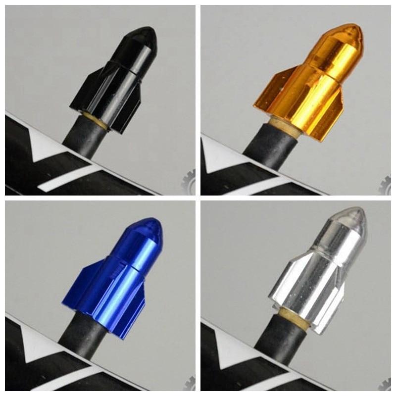 Rocket-bullet estilo bicicletas pneu válvula caule tampas de decoração bicicletas roda acessórios de pneus