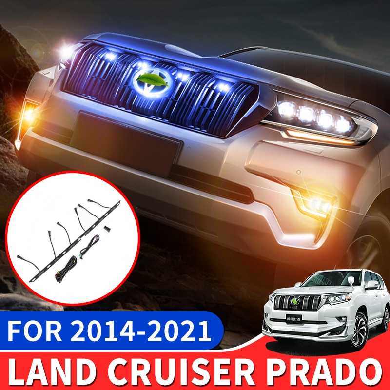 2014-2021 For Toyota Land Cruiser Prado 150 FJ150 Modification Accessories Led Light Central Grille Clearance Lamp Width Lamp