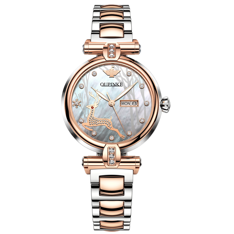 Automatic Watch For Women Luxury Brand Mechanical Watch Set Gift Waterproof Stainless Steel French Ins Style EU CE Certification enlarge