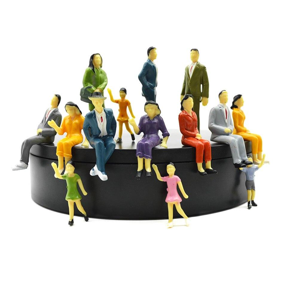 1/25 échelle Miniature modèle couleur Figure pour Diorama minuscule Table de sable faisant 20 pièces modèle minuscule peint échelle personnes