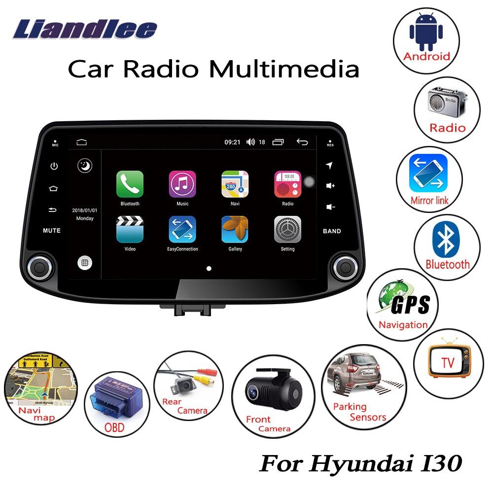Liandlee para Hyundai I30 2017 ~ 2018 Android reproductor de Radio para coche GPS Navi mapas de navegación Cámara OBD TV HD medios de pantalla sin CD DVD
