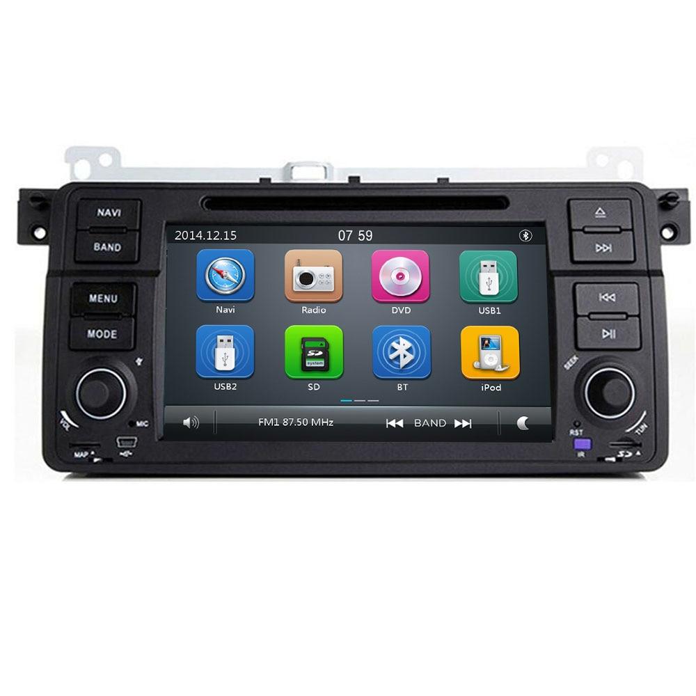 Actory Preis 1 Din Auto DVD Player für BMW E46 M3 Mit GPS Bluetooth Radio RDS USB lenkrad Canbus kostenlose Karte + Kamera MIC