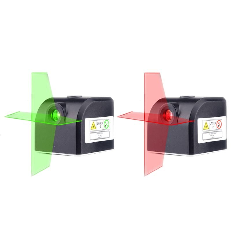 Nivel láser de tamaño de bolsillo rojo verde Cruz-línea Horizontal Vertical Super Mini portátil recargable nivel láser