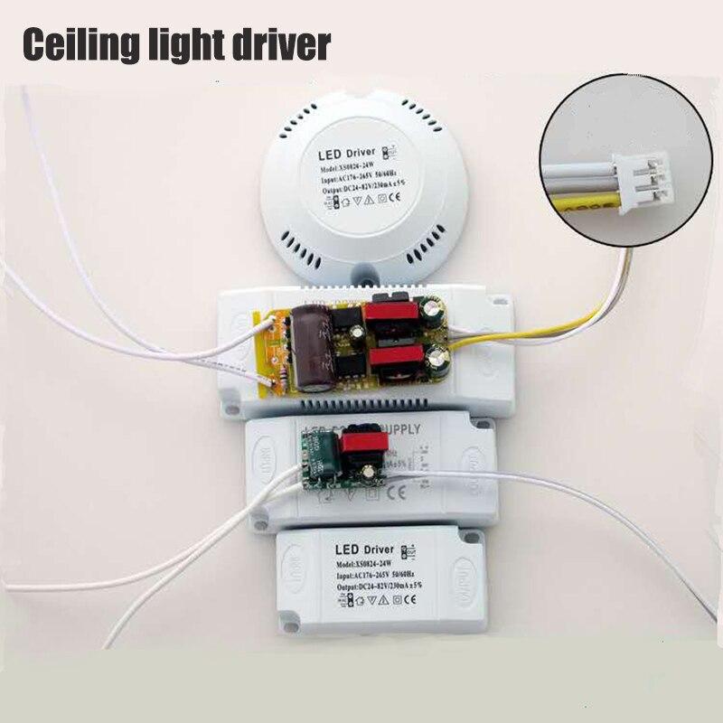 12-50w conduziu o transformador AC175-265V do diodo emissor de luz do teto, fonte de alimentação dobro da cor-temperatura para a luz interna, acessórios de diy