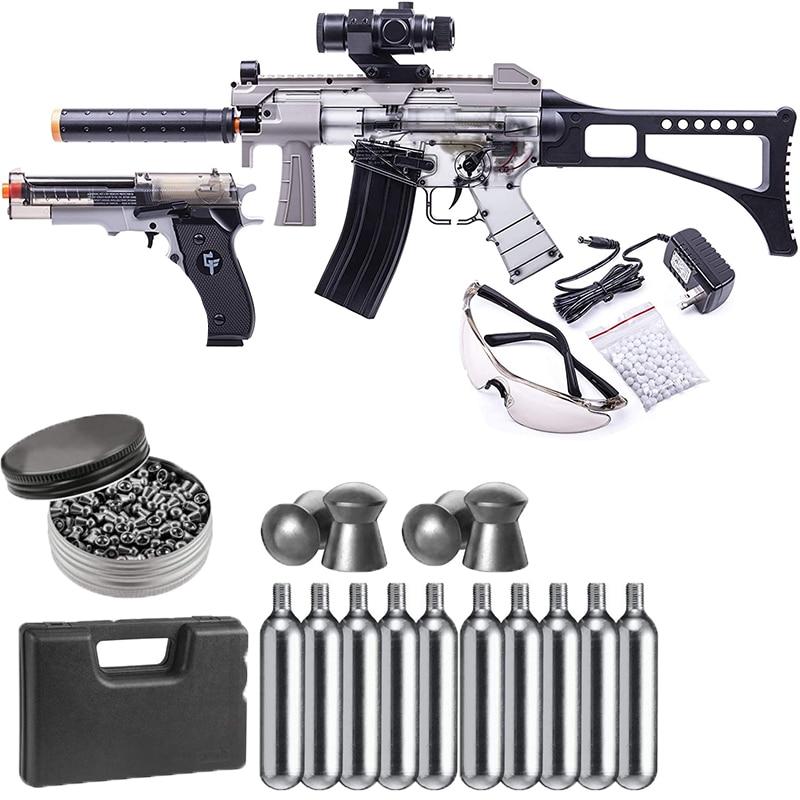 Пистолет BB, оружие для co2, 5x12, картуховый диоксид карбона и упаковка 500, стеллажи, стеллажи