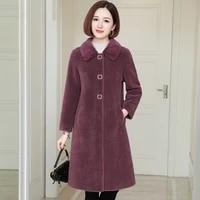 korean simple 100real wool fur womens coats autumn winter2021 mink fur collar female jacket warm womens clothing ropa zjt1978