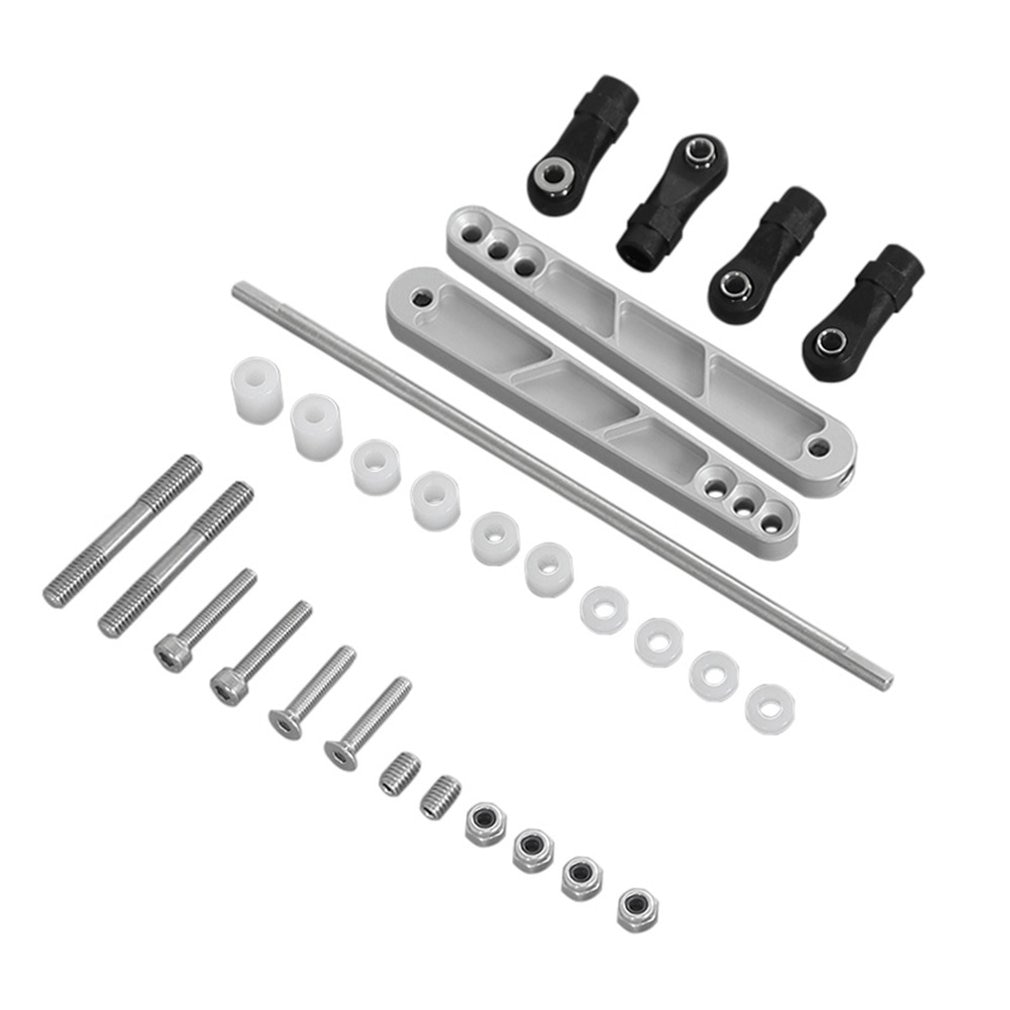 Yks alumínio preto tira anti-tilt haste para rc carro axial rr10 90048 90053 90025 90026 90050 wraith acessórios para brinquedos