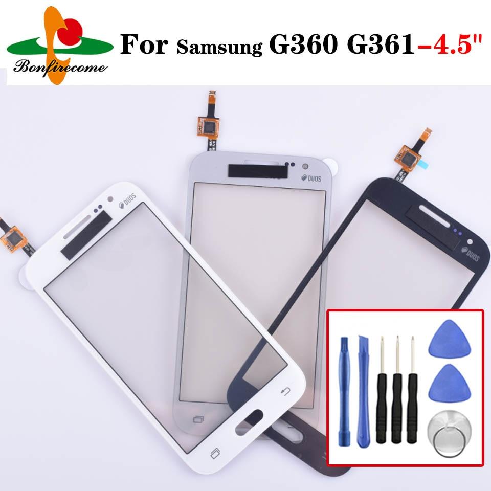"Para Samsung Galaxy DUOS Core Prime G360 G360H G361 G361H G361F pantalla táctil Panel Sensor LCD pantalla 4,5 ""Cristal digitalizador Replac"