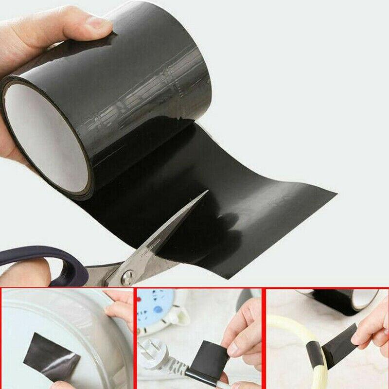 1,5 m Super fuerte impermeable detener fugas cinta mágica parche Bond sello reparación detener fugas rendimiento auto Fiberfix cinta adhesiva