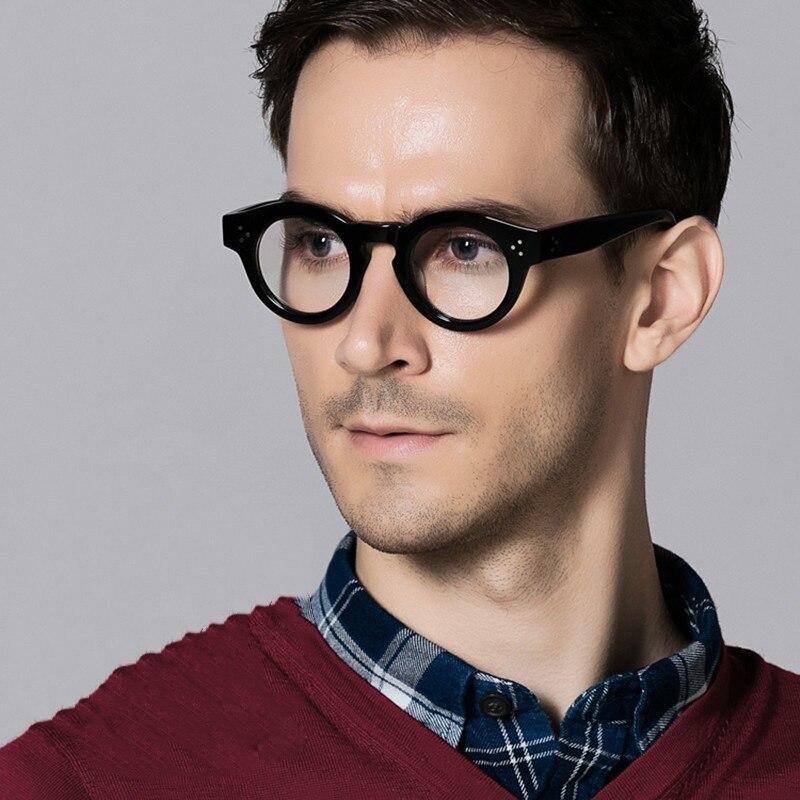 Cubojue Reading Glasses Men 1.25 1.75 2.5 2.25 3.75 Diopter Eyeglasses Frames Male Black Tortoise Vintage Janpanese Brand Thick