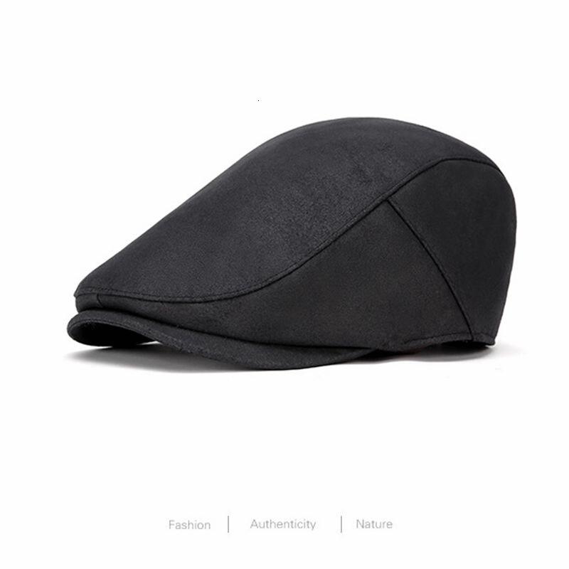 Homem bonito camurça hera boné masculino tamanho grande flat peaked chapéus cabeça grande homem e mulher mais tamanho boina tampões 55-58cm 59-61cm