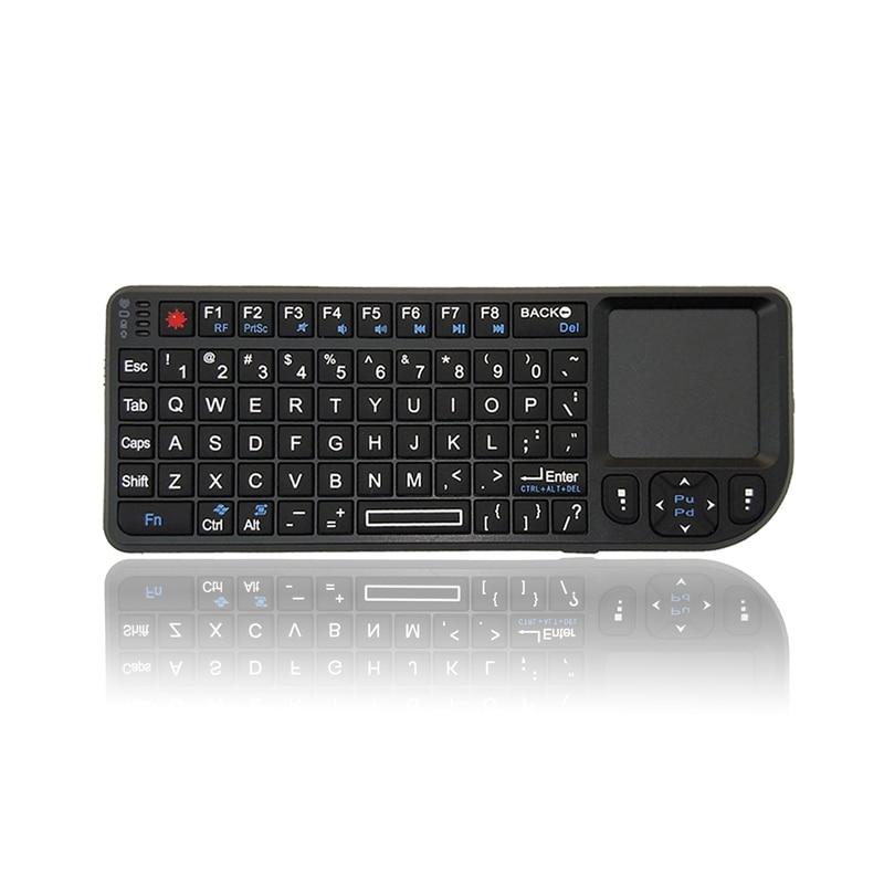 A8 Drahtlose Tastatur Air Fly Maus 2,4G Mini Touchpad Weiß Backlit für Rede Projektor Stecker und Spielen