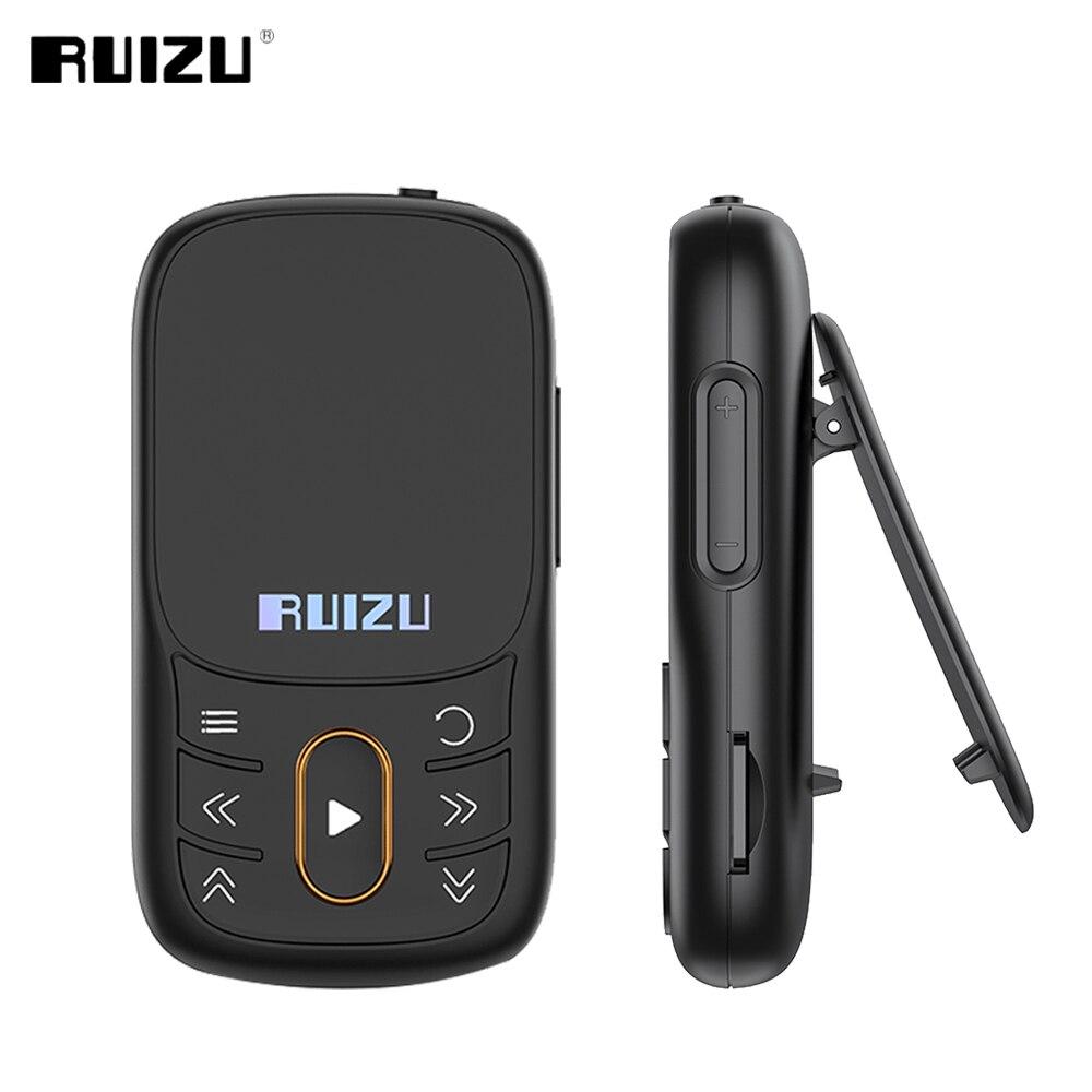 RUIZU X68 الرياضة مشغل MP3 مع بلوتوث ضياع كليب مشغل موسيقى يدعم راديو FM تسجيل الفيديو الكتاب الإلكتروني عداد الخطى TF بطاقة
