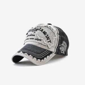Fashion  Europe Mens Sun Hat Embroidery Baseball Caps Outdoor Adjustable Cotton Snapback