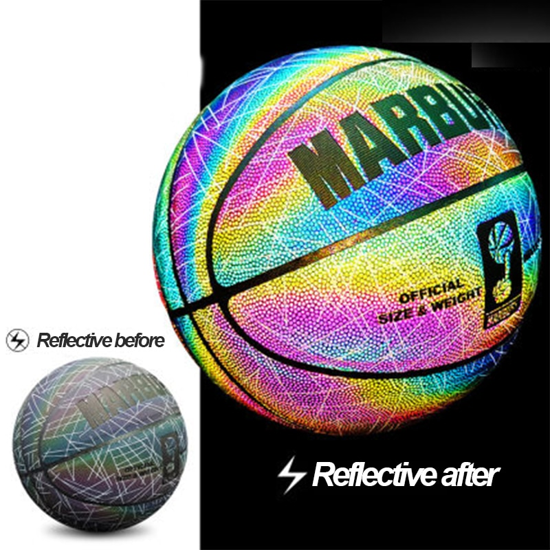 Ruox No. 7 Reflective Basketball Wear-Resistant Ball Ball Can Custom Personalized Gift Code@A02