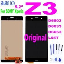 "Original 5.2 ""LCD Für SONY Xperia Z3 LCD Display Touch Screen mit Rahmen für Xperia Z3 Dual D6603 D6633 d6653 L55T Display LCD"