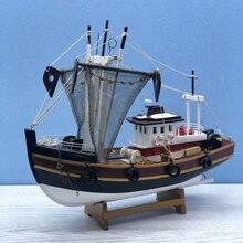 LUCKK Wooden Sailing Boats Civil Ship Model 40*15*33CM Home Decoration Sailboat Sailing Model Drop shipping