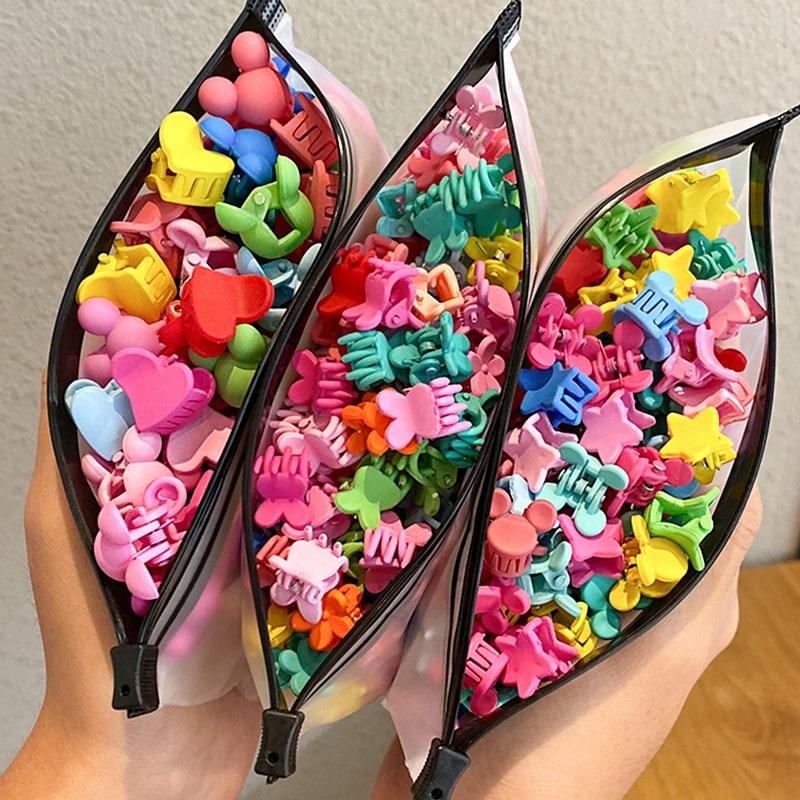 30/50 buc / set flori drăguțe colorate pentru fete, stea, gheare mici pentru păr Mickey, ace de păr pentru copii, agrafe de păr, accesorii pentru păr