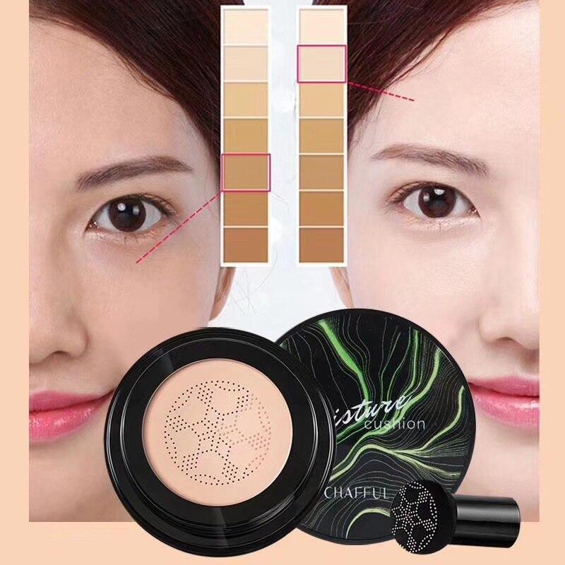 Cabeza de hongo, maquillaje cojín inflable, base hidratante, maquillaje brillante Natural permeable al aire, crema BB, cosmética coreana TSLM
