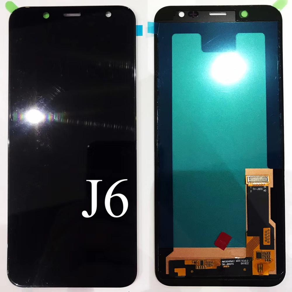 OLED копирующий экран для samsung Galaxy J6 2018 J600 J600F/DS J600G/DS сенсорный экран дигитайзер ЖК-дисплей настраиваемый для J6 2018 J600