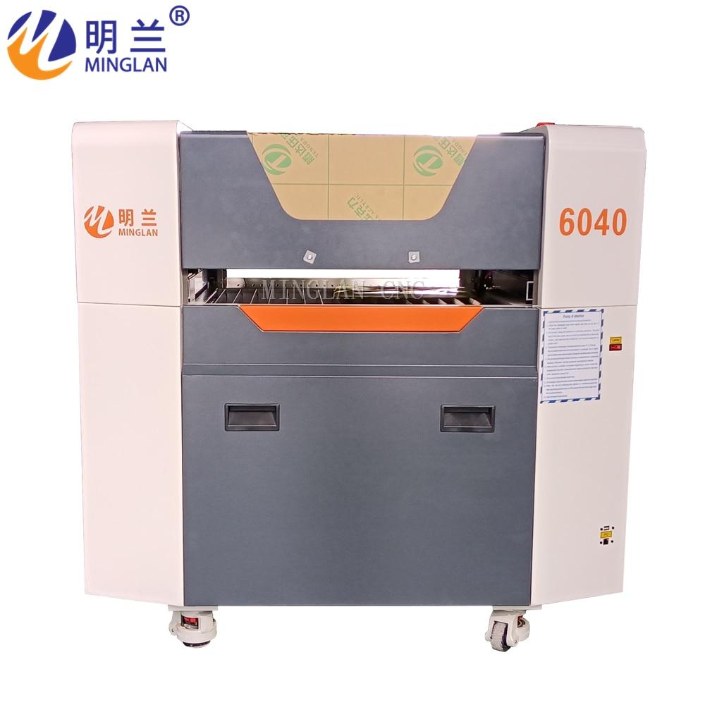 6040 الليزر مع آلة تقطيع بالليزر رويدا 4060 60 واط/80 واط/100 واط CO2 ماكينة الحفر بالليزر مع CE