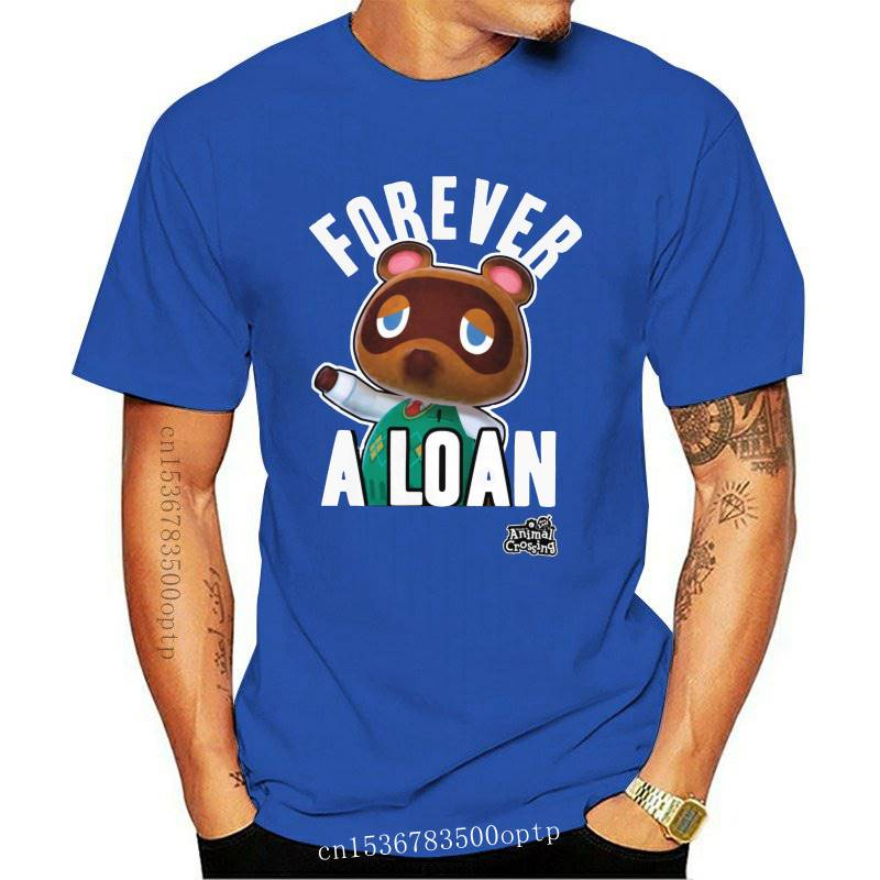 Stylish Video Game Animal Crossing T Shirts for Men Short Sleeves Leisure Forever A Loan Tee 100% Cotton Summer T-Shirt Merch