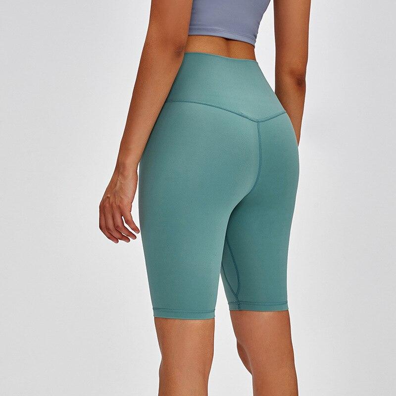 Fanceey nuevo sin costuras de pantalones cortos de las mujeres pantalones cortos de cintura alta de mujeres Yoga pantalones cortos deportes pantalones cortos de las mujeres entrenamiento gimnasio polainas