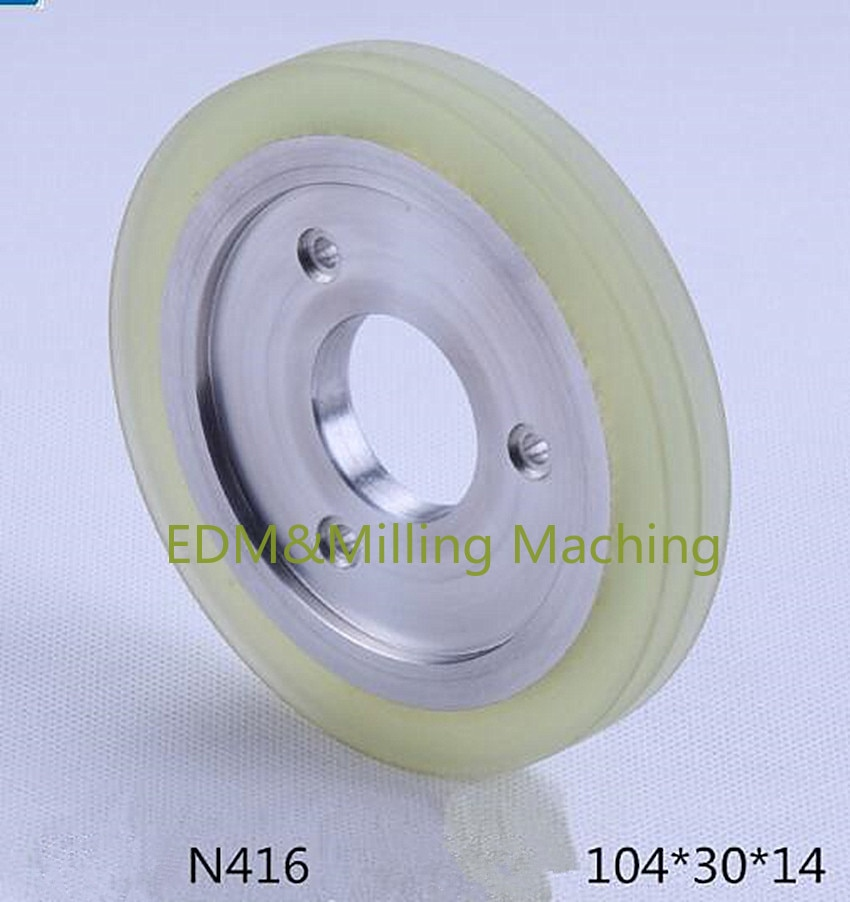 سلك إدم آلة N416 6EC100B404 التوتر دليل عجلة أسلاك 104*30*14 مللي متر ل نك ماكينو آلة W32FB/W53FB/UJ خدمة