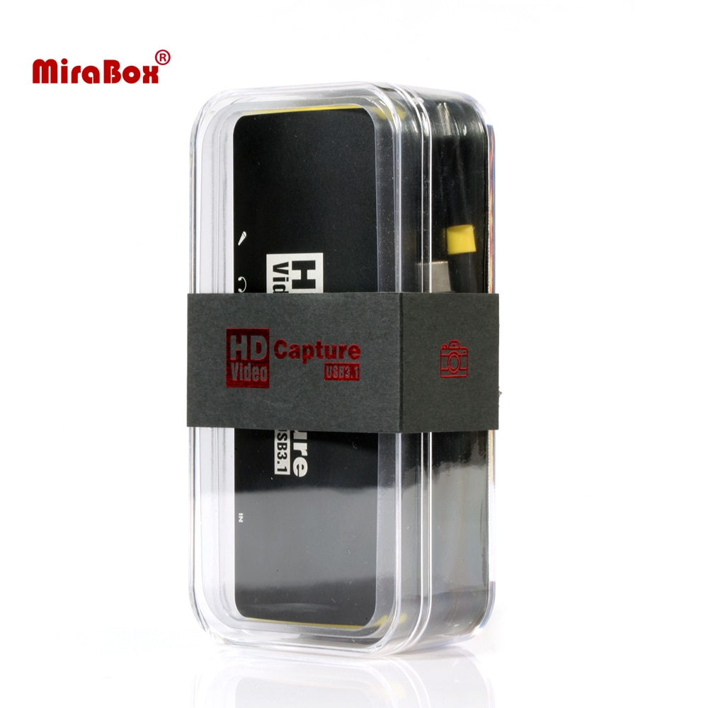 Accept OEM Order Mirabox 1080P Game Capture Card,Low Latency USB3.1 Type C Capture Card for Nintendo Switch PS4