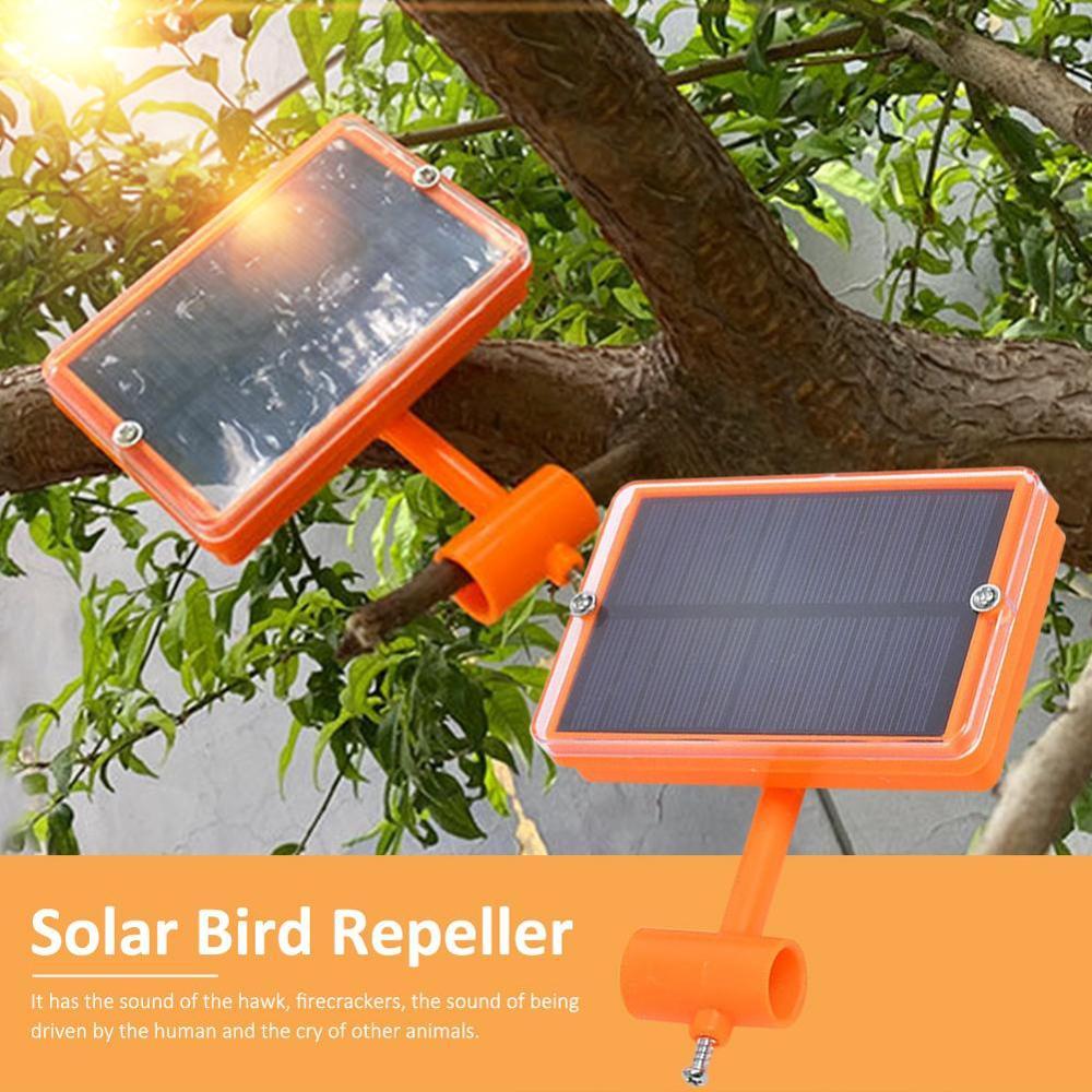 Ultrasonic Solar Animal Repellent Garden Bird Pest Repeller Driving Device for Outdoors