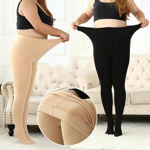 2021 Extra Large Leggings Women Wear Plush Thick Spring Winter Pantyhose Medium Thin Fit 40- 55kg 50- 85kg Black Skin