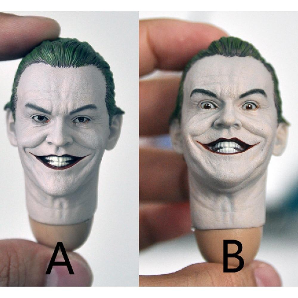 1/6 joker Jack Nicholson Clown Kopf Skulptur 1989 Edition für 12 zoll action figur