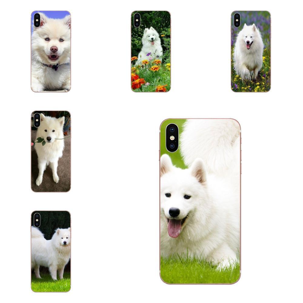 Para LG G5 G6 K10 K40 K8 Q60 K50 Q7 Q6 LG G7 ThinQ V40 V30 V20 V10 2018 2 3Q lápiz lindo samoyedo blanco cachorro perro