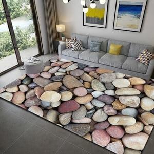 Nordic 3D Cobblestone Living Room Carpet Bedroom Flannel Area Rugs Children Room Decor Floor Mat Rugs Kid Crawling Play Carpets