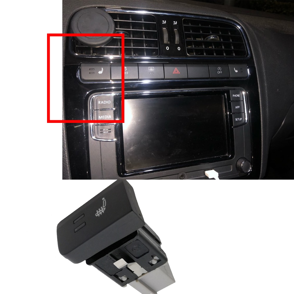 Кнопка нагревателя автомобильного сиденья, переключатель нагрева с жгутом проводов, левая сторона для Polo 6R 6C 2011 2012 2013 Переключатели и рычаги для авто      АлиЭкспресс