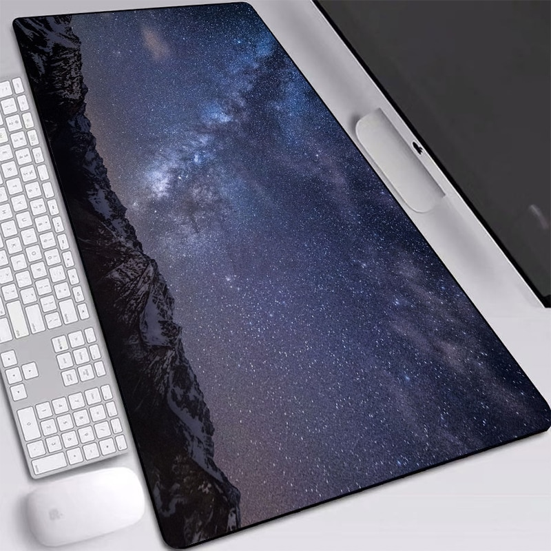 Night Sky Mouse-pad with Sewn Edges Thermal Transfer Printed Mice Mat Laptop Notebook Keyboard Pad Gaming Accessories 2mm