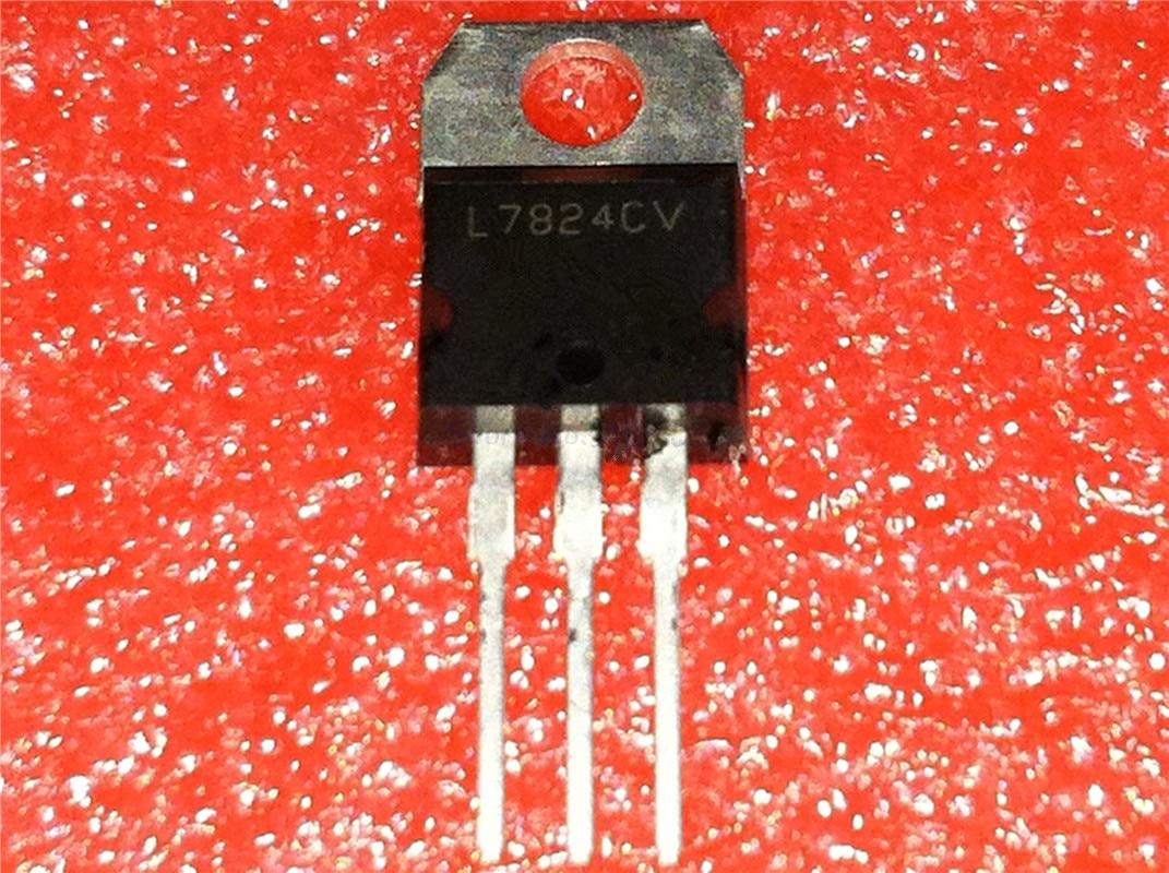 10 unids/lote L7824CV L7824 7824 LM7824 MC7824 a-220 en Stock