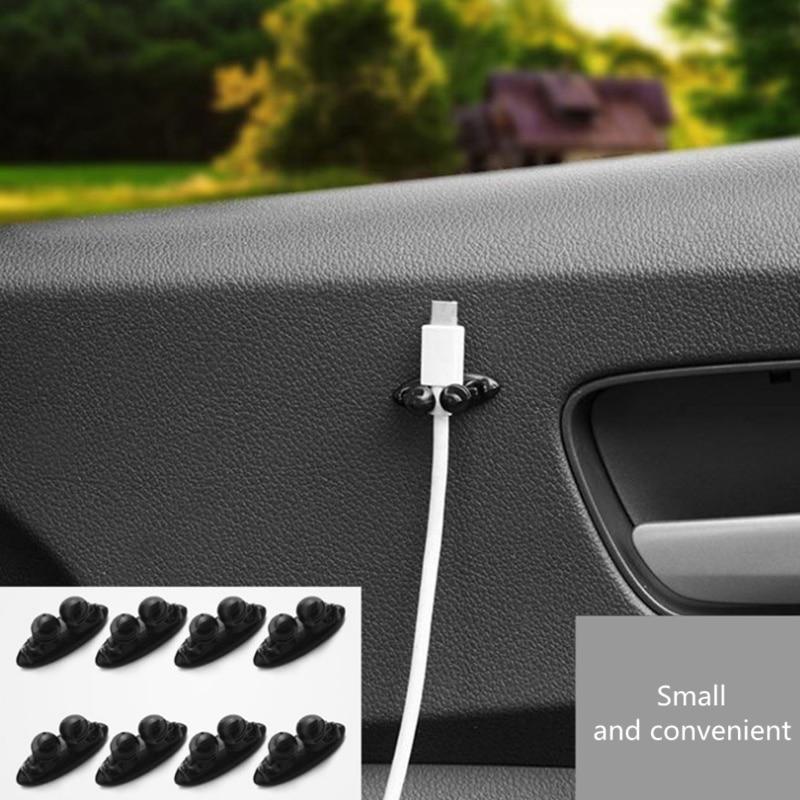 8PCS Car Wire Holder Clip Car Stickers For DAIHATSU Sigra Ayla Sirion Xenia Geely Emgrand X7 EmgrarandX7,EX7 ,FC SUV,Vision