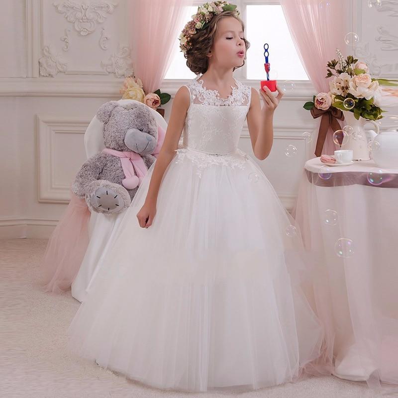 Meninas vestido de festa à noite 2019 verão crianças vestidos para meninas crianças traje elegante princesa vestido de flor meninas vestido de casamento