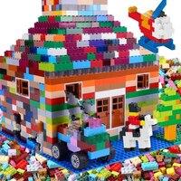 Детские игрушки DIY, пластиковые строительные блоки, сборные Обучающие игрушки для мальчиков и девочек, совместимые с Legoes