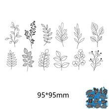 95*95mm Blätter von verschiedenen formen neue Metall Schneiden Stirbt für karte DIY Scrapbooking schablone Papier Handwerk Album vorlage Stirbt