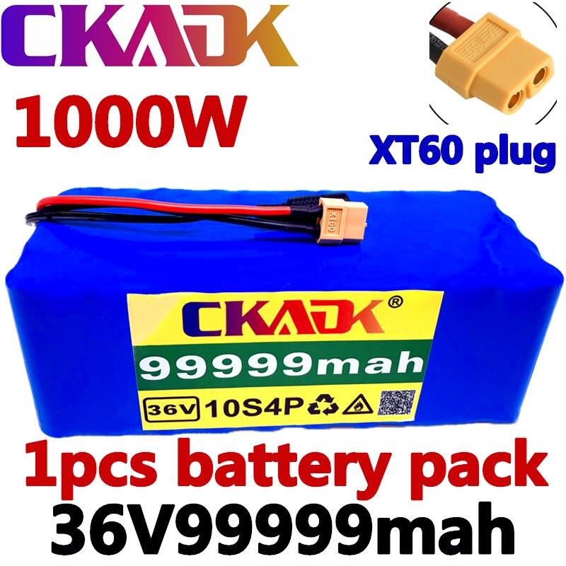 100% بطارية أصلية 10S4P 36 فولت 99.999Ah بطارية 1000 واط بطارية 42 فولت 99999 مللي أمبير دراجة كهربائية مع BMS