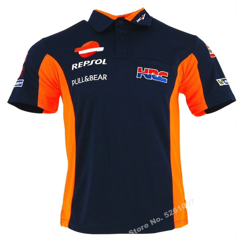Honda Motorcycle T-shirt Men Motocross Polo Clothing Summer Moto GP MTB Biker Shirt Quick-drying For HRC enlarge