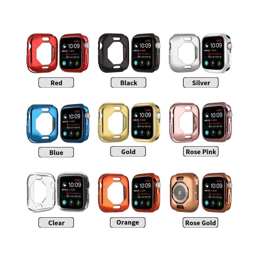 Capa para Apple Pára-choques para Iver Pacote Quadro Protetor Relógio Ver Series5 – 4 40mm Tpu Galvanizado Cor Protetora Case 9