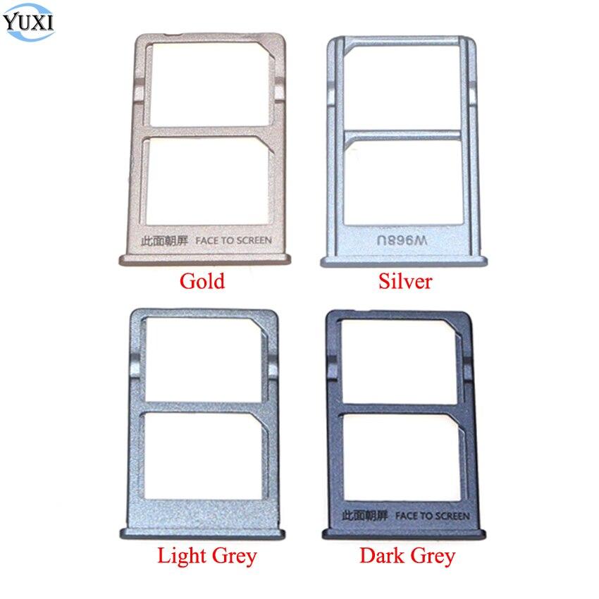 YuXi dla Xiaomi Mi 5S Plus taca kart SIM Adapter uchwytu do gniazda do Mi5S Plus Mi 5 Plus złoty/srebrny/szary