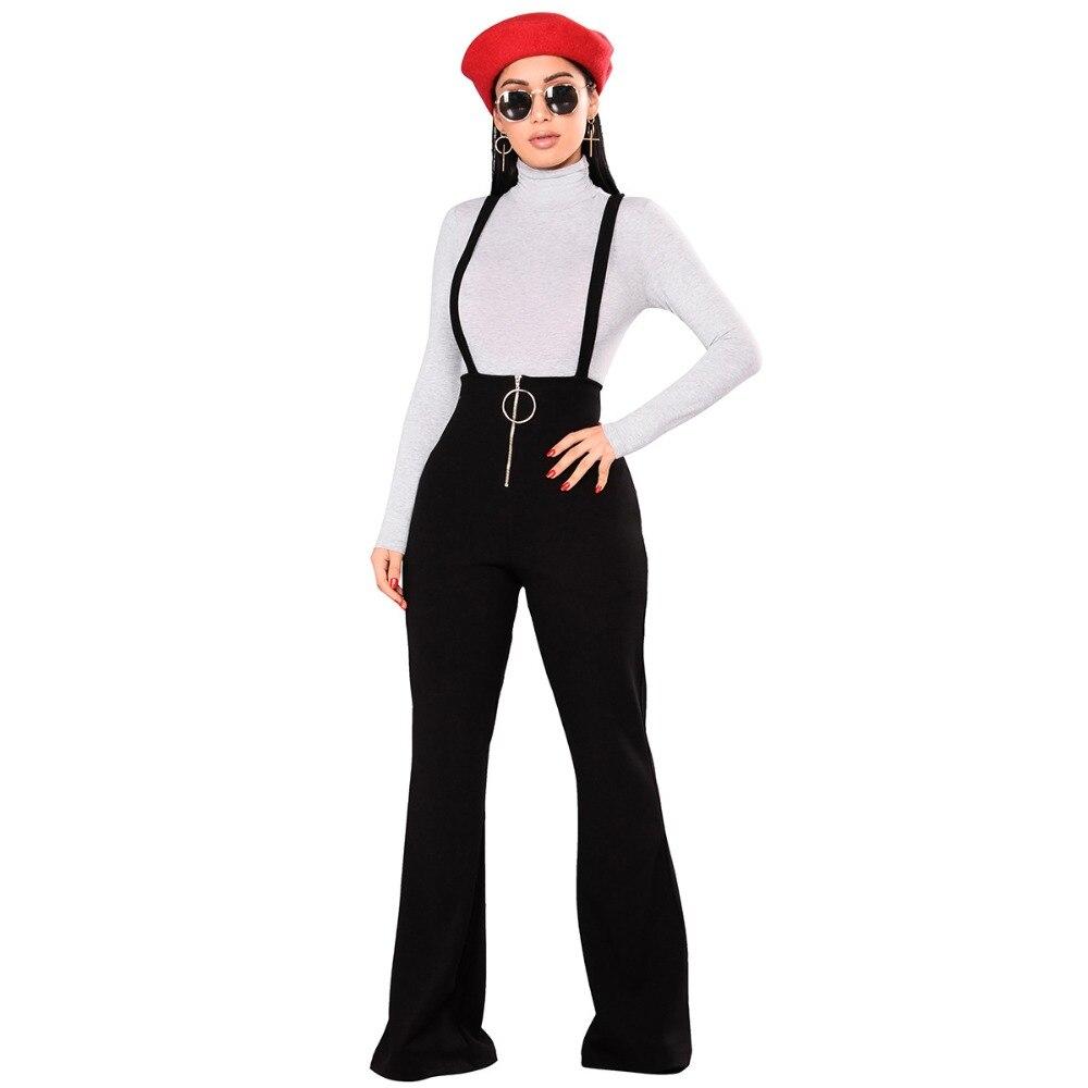 Pantalon Mujer Flat Pants Women 2021 New Arrival Special Offer Mid Loose Vadim Palazzo Pants Free Shipping Waist Big Zipper Bib